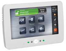edmonton business alarm - commercial intrusion detection - dsc touchpad